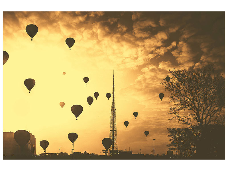 Canvas print Many hot air balloons