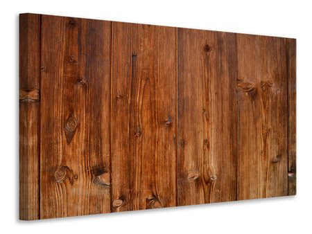 Canvas print Wooden wall texture