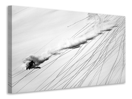 Canvas print Skiing Powder