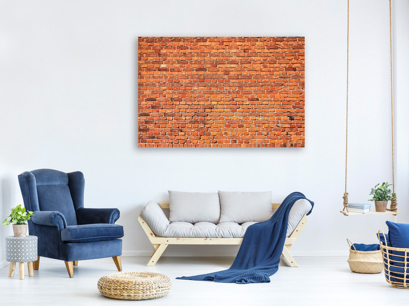 Stampa su tela Red Brick Wall