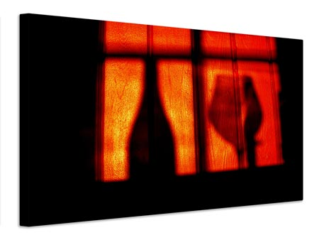 Canvas print A glass of red wine