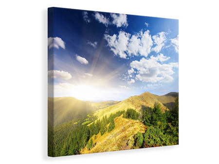 Canvas print Sunrise In The Mountains