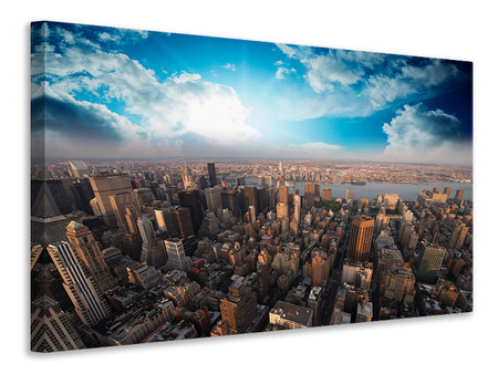 Canvas print Skyline Over The Rooftops Of Manhattan