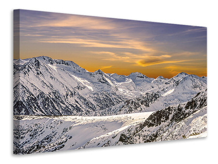 Canvas print Sunset In The Mountains