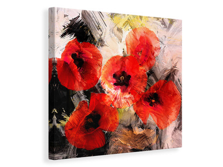 Canvas print Poppy Portrayal