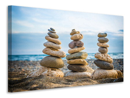 Canvas print Three Stone Stacks