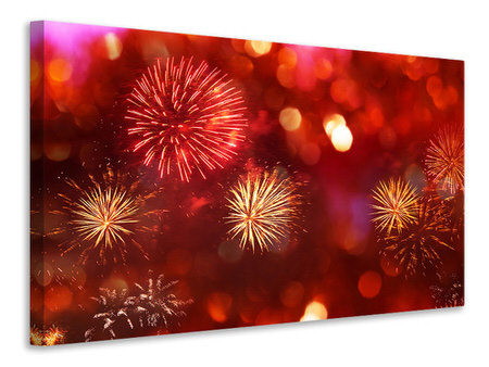 Canvas print Colorful Fireworks