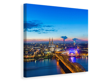 Canvas print Skyline A Penthouse In Cologne