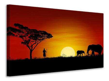 Canvas print African Steppe Elephant