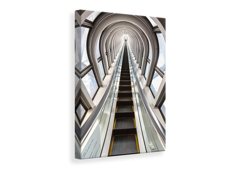 Canvas print Futuristic Escalator