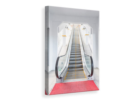 Canvas print Escalator