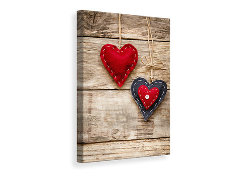 Canvas print Heart Romance