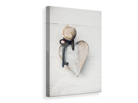 Canvas print Heart Key
