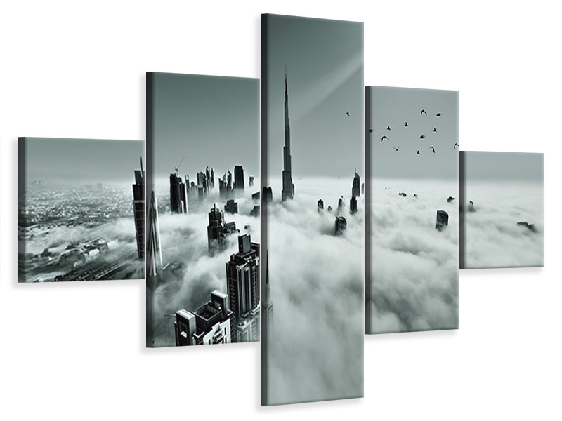 5 Piece Canvas Print Up Up And Above