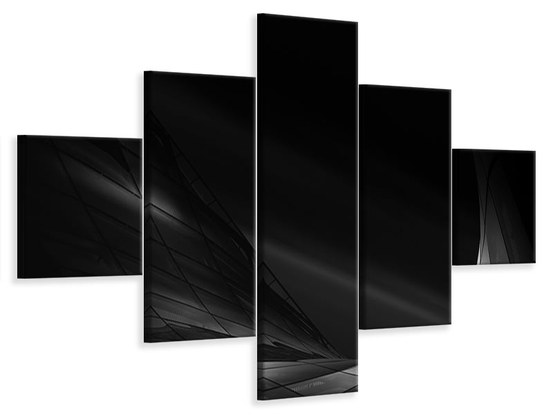 5 Piece Canvas Print Space, Last Final Frontier