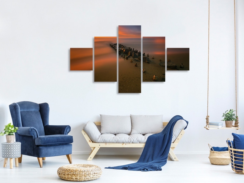 5 Piece Canvas Print Baltic