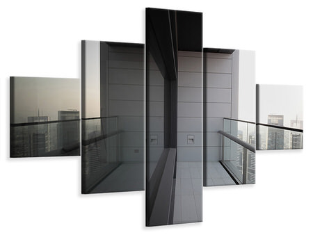 5 Piece Canvas Print Balcony In Dubai