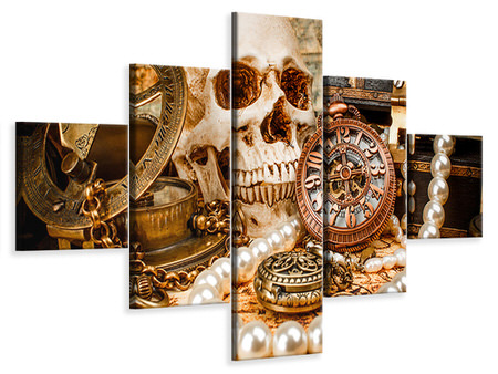 5 Piece Canvas Print Treasure Hunt
