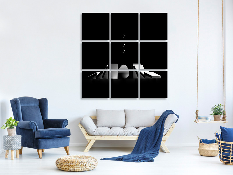9 Piece Canvas Print Double Impact